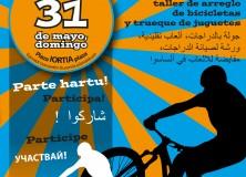 Marcha de bicicleta, juegos tradicionales, taller de arreglo de bicicletas y trueque de juguetes