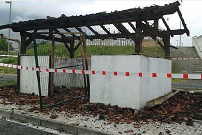 Olazti queman el área de emergencia pap 2015.06.15