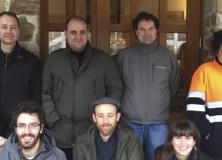 Visita de los representantes de la Mancomunidad de Servicios del Valle Norte del Lozoya para conocer nuestro sistema de recogida de residuos