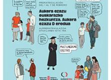 """Campaña """"Elige educación en euskera, elige modelo D"""""""