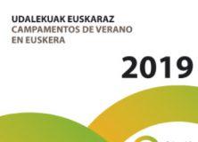 Euskarazko  udalekuak  |  2019