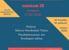 Charla sobre las sexualidades de lxs niñxs   En euskera