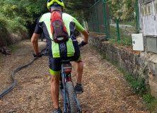 Marcha de bicicleta de montaña por el Camino de Santiago entre Jaca – Villanúa arteko Donejakue bidean
